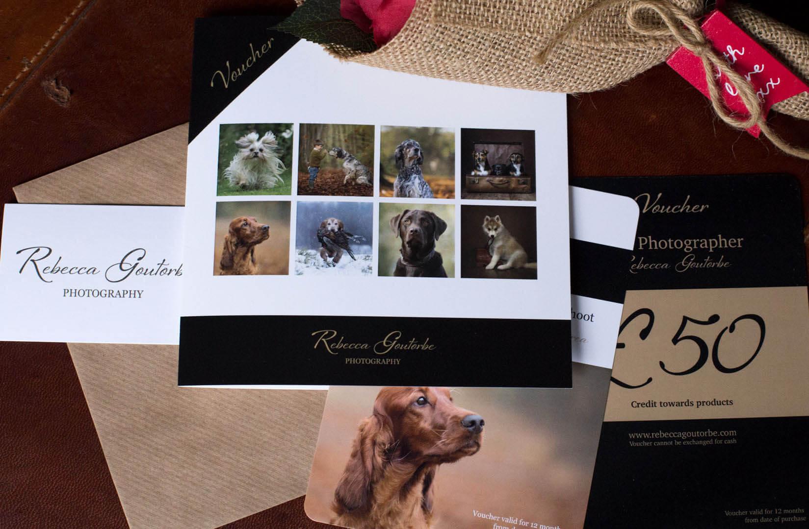 pet photo shoot gift voucher