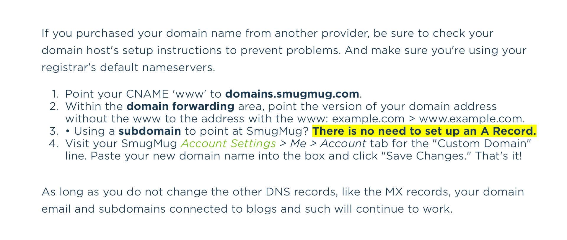 godaddy domain smugmug